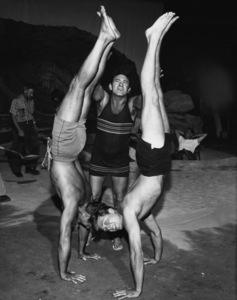 Edd Byrnes on set with Efrem Zimbalist Jr.circa 1960sPhoto by Joe Shere - Image 2144_0053