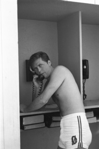 """Edd """"Kookie"""" Byrnes on the phone at The Beverly Hills Hotelcirca 1960s© 1978 David Sutton - Image 2144_0060"""