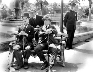 """""""The Idle Class""""Charlie Chaplin in front of the Beverly Hills Hotel1921**I.V. - Image 21545_0001"""