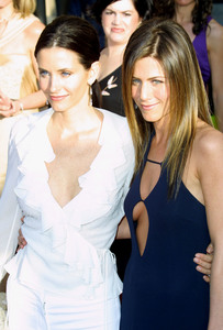 """9th Annual Screen Actors Guild Awards"" 3-9-03Courteney Cox and Jennifer AnistonMPTV - Image 21590_0168"