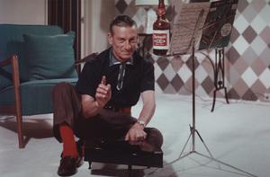 Hoagy Carmichael posing for a Rheingold beer advertisement, circa 1955. © 1978 Paul HesseMPTV - Image 2162_17