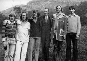 The entire Carradine family (Bruce Carradine, David Carradine, Chris Carradine, John Carradine, Keith Carradine, Robert Carradine) circa 1974 © 1978 Ulvis Alberts - Image 2166_0004