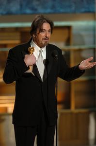 """Golden Globe Awards"" 1-25-2004Al Pacino © 2004 MMIV Hollywood Foreign Press Association - Image 21726_0142"