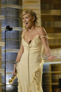 """Golden Globe Awards"" 1-25-2004Charlize Theron © 2004 MMIV Hollywood Foreign Press Association - Image 21726_0144"