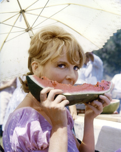 "Petula Clark on the set of ""Finian"
