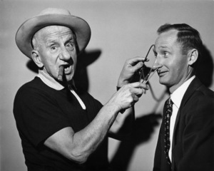 Jimmy Durante and photographer Gene Trindl circa 1960s © 1978 Gene Trindl - Image 21944_0002