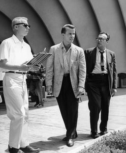 Dick Clark with stage director at Hollywood Bowlcirca 1966Photo by Joe Shere - Image 2196_0036