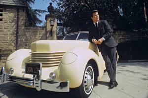 Dick Clark and his 1938 Cord 810 automobilecirca 1970 © 1978 Bruce McBroom - Image 2196_0045