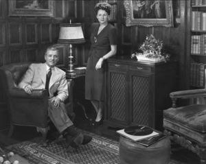Ronald Colman with wife Benita Humecirca 1954 © 1978 Paul Hesse - Image 2210_0175