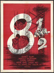 """8 1/2"" (French one-sheet poster)1963** I.V.C. - Image 22184_0027"