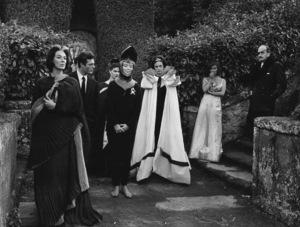 """""""La Dolce Vita""""Marcello Mastroianni, Nico (wearing knight"""