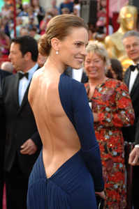 Best Actress Academy Award nominee Hilary Swank arrives at the 77th Annual Academy Awards at the Kodak Theatre in Hollywood, CA on Sunday, February 27, 2005.  HO/AMPAS - Image 22270_0067