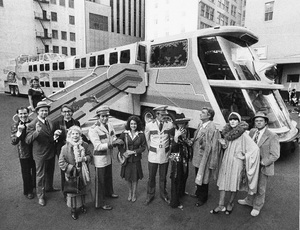 """The Big Bus""Stockard Channing, Joseph Bologna, Rene Auberjonois, Ned Beatty, Bob Dishy, Jose Ferrar, Ruth Gordon, Lynn Redgrave, Richard Mulligan, Sally Kellerman1976** I.V. - Image 22345_0001"