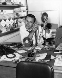 Bob Crane on his LA radio show1958Photo by Gabi Rona - Image 2238_0012