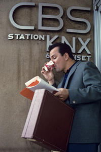 Bob Crane at CBS station KNX on Sunset1964 © 1978 Gene Trindl - Image 2238_0030