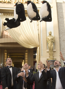 """The 78th Annual Academy Awards"" (Arrivals)The filmmakers of ""March of the Penguins"" (Emmanuel Priou, Luc Jacquet, Yves Darondeau, Christophe Lioud)03-05-2006 / Kodak Theatre / Hollywood, CA © 2006 AMPAS - Image 22701_0001"