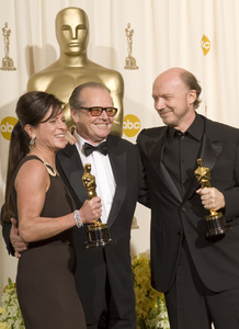 """The 78th Annual Academy Awards"" (Press Room)Cathy Schulman, Jack Nicholson, Paul Haggis03-05-2006 / Kodak Theatre / Hollywood, CA © 2006 AMPAS - Image 22701_0046"