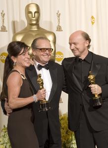 """The 78th Annual Academy Awards"" (Press Room)Cathy Schulman, Jack Nicholson, Paul Haggis03-05-2006 / Kodak Theatre / Hollywood, CA © 2006 AMPAS - Image 22701_0046"