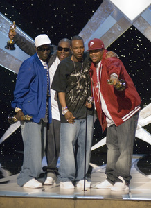 """The 78th Annual Academy Awards"" (Telecast)Three 6 Mafia (Crunchy Black, Project Pat, Paul Beauregard (aka D.J. Paul), and Jordan Houston (aka Juicy J))03-05-2006 / Kodak Theatre / Hollywood, CA © 2006 AMPAS - Image 22701_0064"