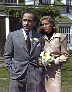 Humphrey Bogart and Lauren Bacall on their wedding day1945** I.V. - Image 22727_0403