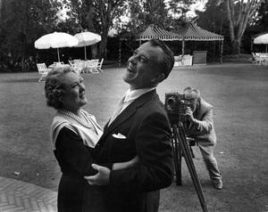 Mary Pickford, Ramon Novarro and Charles Rosher at famous silent movie party at Pickfaircirca 1950s** I.V. - Image 22727_1439