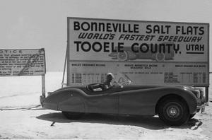 Cars1950 Jaguar XK 120 at Bonneville Salt Flats1950** H.C. - Image 22813_0025