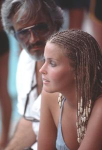 """Bo Derek with her Husband John Derek,on the set of """"Ten""""1978 © 1978 Bruce McBroom - Image 2284_0038"""