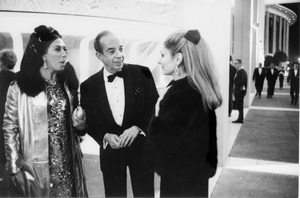 Denise Minnelli with Vincente Minnelli and Mrs. Hernando Courtright at the opening of the Mark Taper Forum and Ahmanson Theater in Los Angeles, CA / 04-09-1967 © 1978 Bob Willoughby - Image 22927_0005