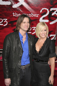 """""""The Number 23"""" (Premiere) Jim Carrey, Jenny McCarthy 2-13-2007 / Orpheum Theatre / Los Angeles, CA / New Line Cinema / Photo by Max Rodeo - Image 22930_0005"""