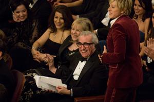 """Academy Awards - 79th Annual"" (Telecast)Martin Scorsese, Ellen DeGeneres2-25-07Photo by Richard Harbaugh © 2007 A.M.P.A.S. - Image 22937_0089"