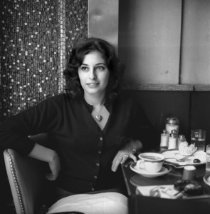 Candid portrait of film and television actress Ina Balin taken in a restaurant in New York City, New Yorkcirca 1961 © 2005 Michael Levin - Image 22944_0001