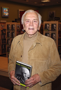 """Kirk Douglas at the book signing of """"Let"""