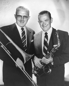 Jimmy Dorsey and brother Tommy Dorseycirca 1953Photo by Gabi Rona - Image 2302_0008