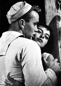 """""""The Rose Tattoo""""Ben Cooper and Marisa Pavan in scene which Pavan tries to make him love her when they come home and her mother is out1955 © 1978 Sanford Roth / AMPAS - Image 23129_0010"""