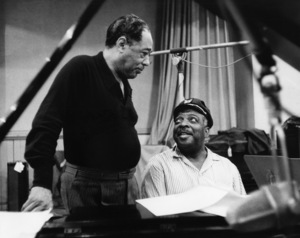 "Edward Kennedy ""Duke"" Ellington and Count Basie at a Columbia session with featured both their bands07-06-1961** I.V.M. - Image 2326_0115"
