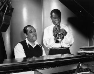 """Edward Kennedy """"Duke"""" Ellington and Louis Armstrongcirca 1950s** I.V.M. - Image 2326_0125"""