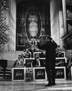 """Edward Kennedy """"Duke"""" Ellington and his orchestra in Coventry Cathedral02-21-1966** I.V.M. - Image 2326_0130"""