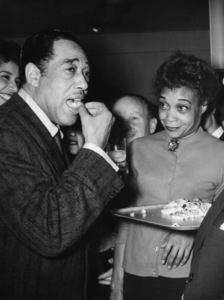 "Edward Kennedy ""Duke"" Ellington at a cocktail party given in his honor in Pariscirca 1950s** I.V.M. - Image 2326_0134"