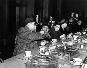 "Edward Kennedy ""Duke"" Ellington with Ivie Anderson and Harry Lim, the producer of Keynote Recordscirca 1940s** I.V.M. - Image 2326_0136"