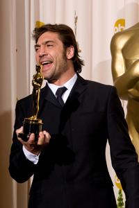 """Academy Awards - 80th Annual"" (Press Room)Javier Bardem2-24-2008Photo by Matt Petit © 2008 A.M.P.A.S. - Image 23359_0048"