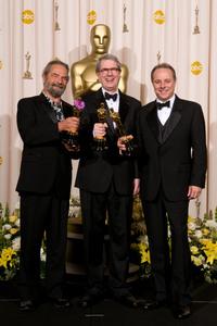 """Academy Awards - 80th Annual"" (Press Room)Scott Millan, David Parker, Kirk Francis2-24-2008Photo by Matt Petit © 2008 A.M.P.A.S. - Image 23359_0051"