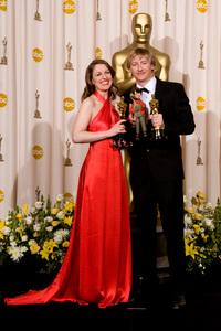 """Academy Awards - 80th Annual"" (Press Room)Suzie Templeton, Hugh Welchman2-24-2008Photo by Matt Petit © 2008 A.M.P.A.S. - Image 23359_0056"