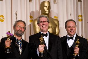 """Academy Awards - 80th Annual"" (Press Room)Kirk Francis, David Parker, Scott Millan2-24-2008Photo by Matt Petit © 2008 A.M.P.A.S. - Image 23359_0059"