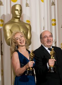 """""""Academy Awards - 80th Annual"""" (Press Room)Francesca Lo Schiavo, Dante Ferretti2-24-2008Photo by Matt Petit © 2008 A.M.P.A.S. - Image 23359_0069"""