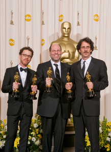 """Academy Awards - 80th Annual"" (Press Room)Ethan Coen, Scott Rubin, Joel Coen2-24-2008Photo by Matt Petit © 2008 A.M.P.A.S. - Image 23359_0078"