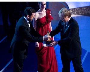 """Academy Awards - 80th Annual"" (Telecast)Steve Carell, Anne Hathaway, Brad Bird2-24-08Photo by Darren Decker © 2008 A.M.P.A.S. - Image 23359_0116"