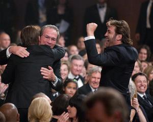 """Academy Awards - 80th Annual"" (Telecast)Josh Brolin, Tommy Lee Jones, Javier Bardem2-24-08Photo by Greg Harbaugh © 2008 A.M.P.A.S. - Image 23359_0132"