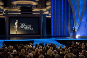 """Academy Awards - 80th Annual"" (Telecast)Jon Stewart2-24-08Photo by Michael Yada © 2008 A.M.P.A.S. - Image 23359_0148"
