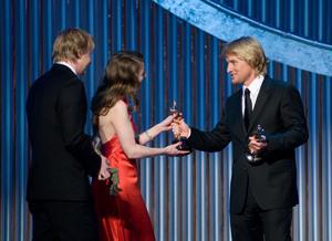 """Academy Awards - 80th Annual"" (Telecast)Hugh Welchman, Suzie Templeton, Owen Wilson2-24-08Photo by Michael Yada © 2008 A.M.P.A.S. - Image 23359_0158"