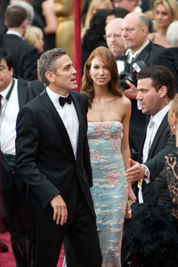 """""""Academy Awards - 80th Annual"""" (Arrivals)George Clooney, Sarah Larson2-24-08 Photo By Matt Petit © 2008 A.M.P.A.S. - Image 23359_0176"""